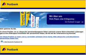 Postbank Spam