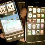 Android HTC Desire und IPhone GS