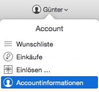 itunes-accountinformationen