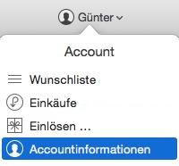 itunes-accountinformationen